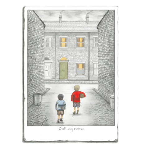 Rolling Home Leigh Lambert Limited Edition Print Sketch