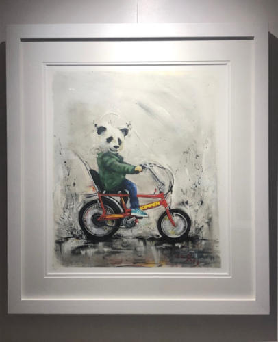 Wild Seeley Panda Chopper Framed