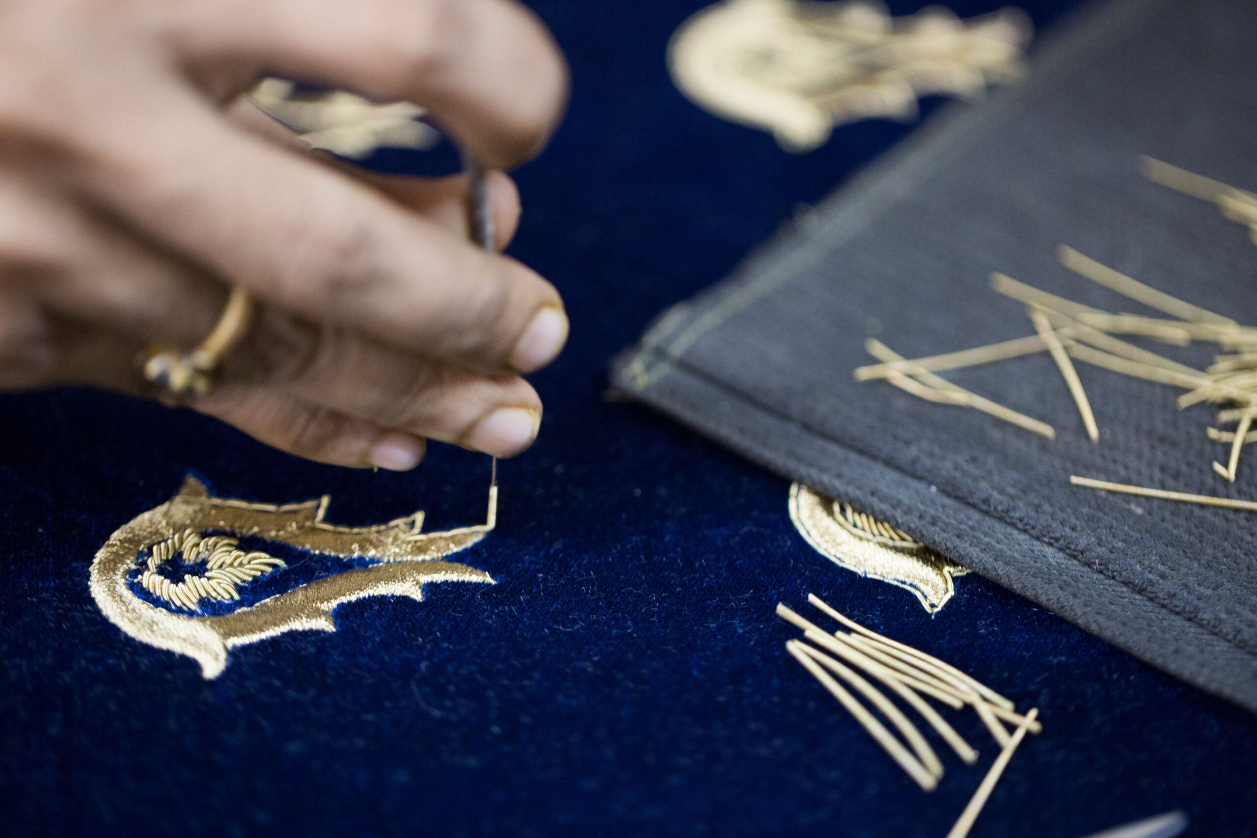 Hand Embroidery close- up