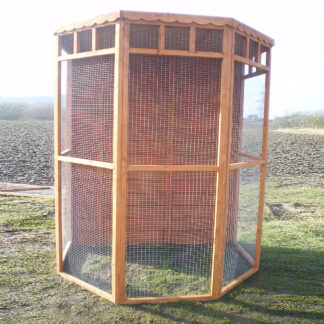 Flat Back Aviary (boarded back) in Golden Chestnut