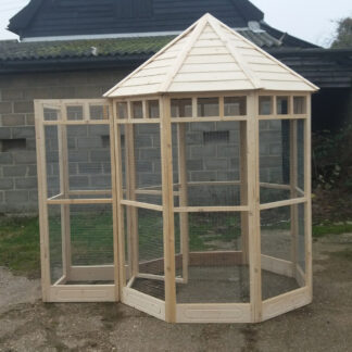 Octagonal Aviary - Safety Porch (kickboard) Unpainted