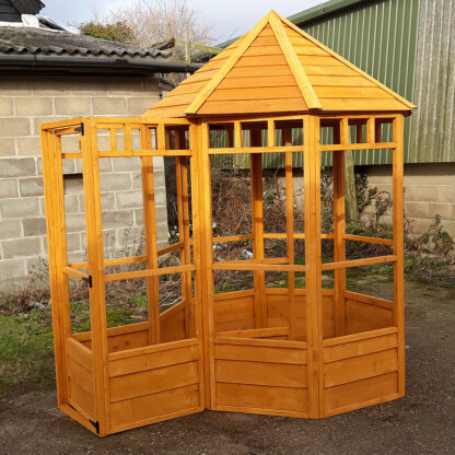 Octagonal Aviary - Third Panel with Safety Porch, Golden Chestnut