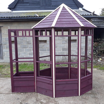 Octagonal Aviary - Third Panel with Safety Porch, Ruby & Cream