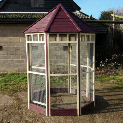 Octagonal Aviary with 150mm kickboard - Ruby and Cream