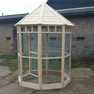 Octagonal Aviary with 150mm kickboard - Unpainted