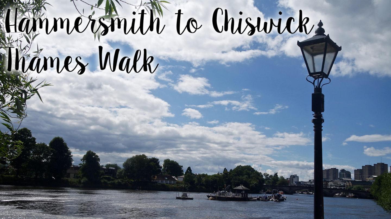 Hammersmith To Chiswick Thames Walk    Photo Diary