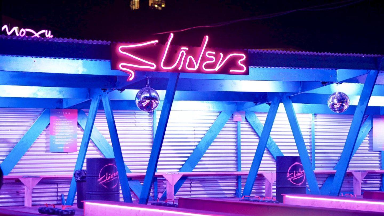 Sliders Curling Club at Roof East, Stratford    London