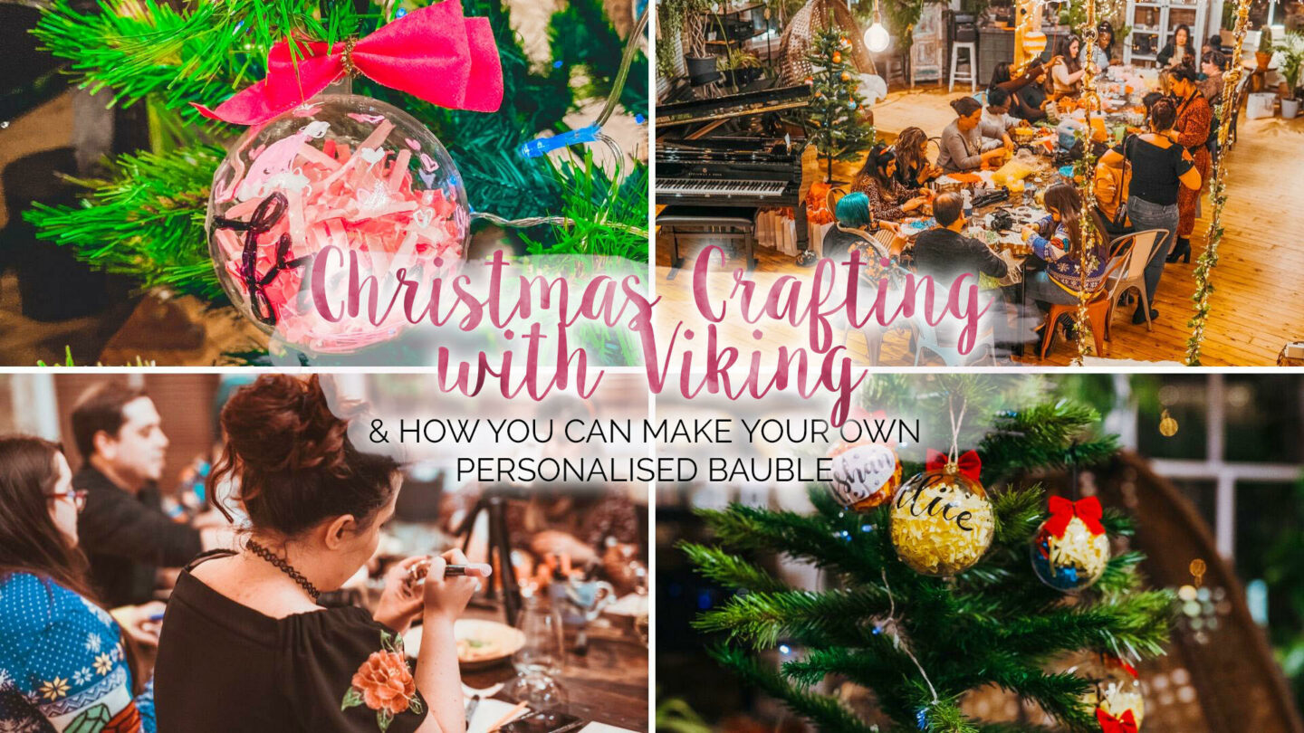 Christmas Crafting with Viking, How To Make Your Own Bauble || Lifestyle