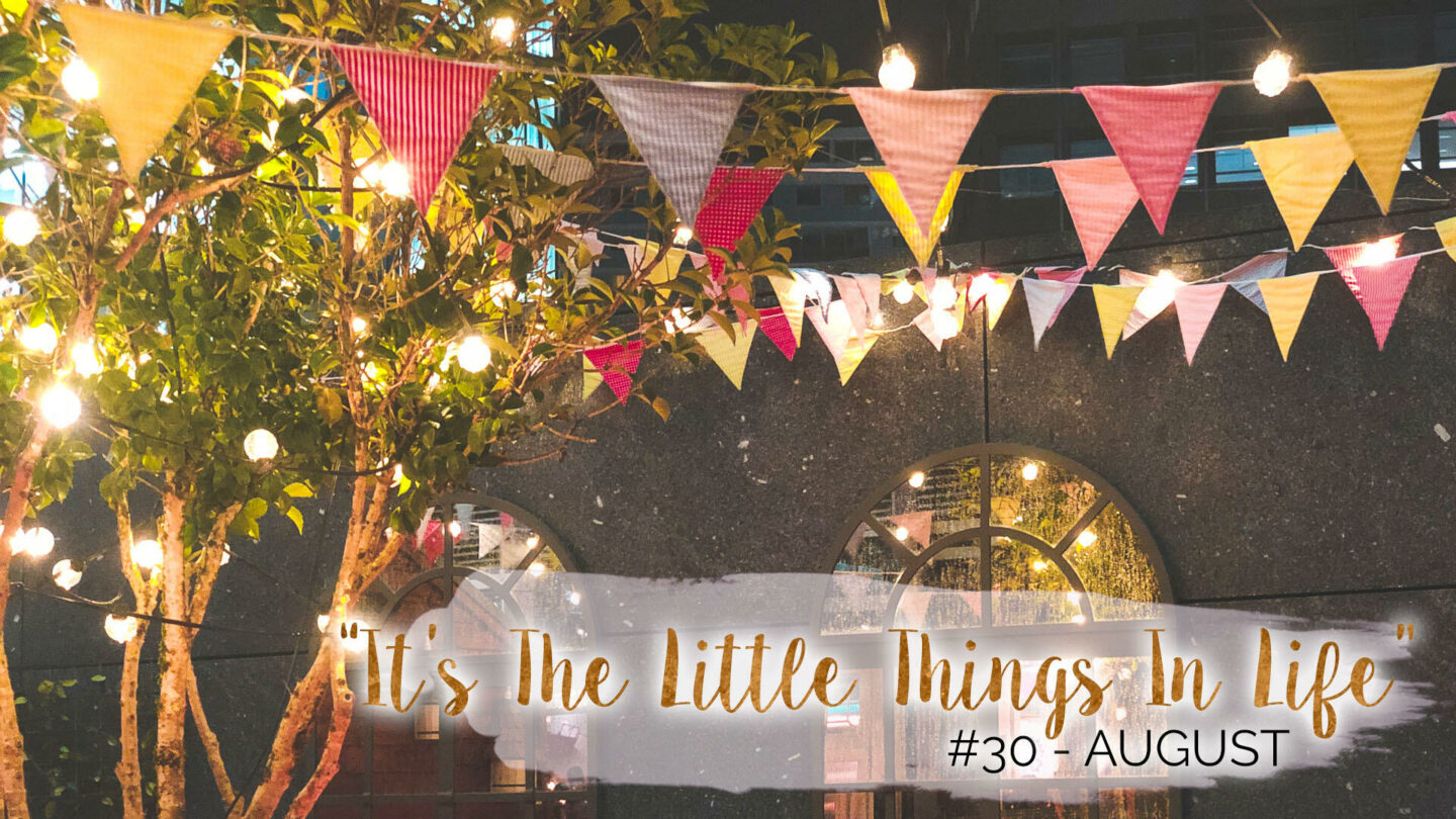 """""""It's The Little Things In Life"""" – 30 – August    Life Lately"""