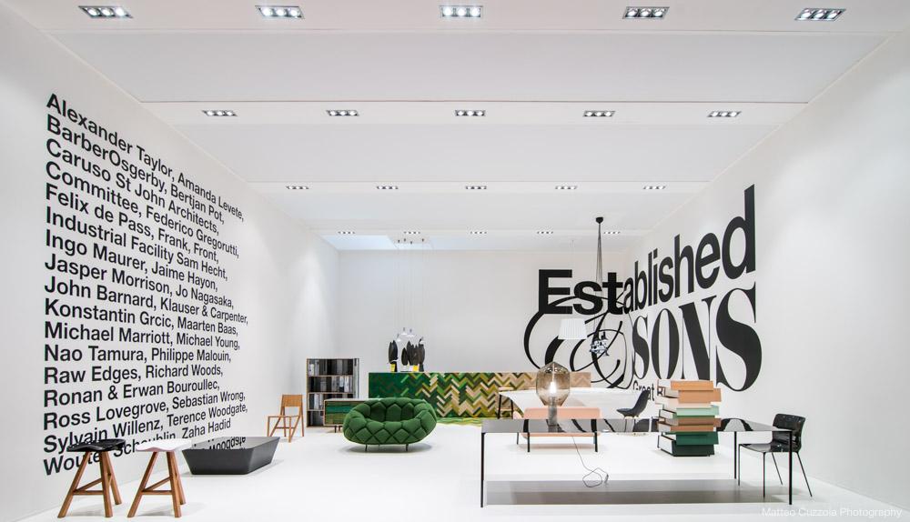 photograph of salone del mobile.milano stand
