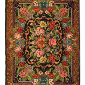 Antique Moldovian Kilim Rug, Floral design