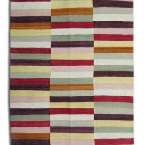 Multicoloured, Modern Kilim Afghan Rug
