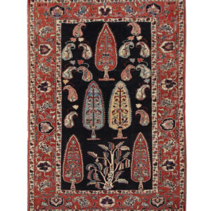 Vintage Persian Quchan Rug From Northeast Persia