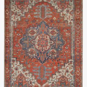Orange Antique Persian Heriz Carpet