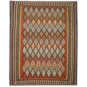 Handmade Kilim Rug, Geometric design rug for sale