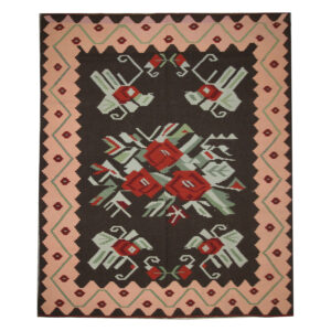 Handmade Floral Kilim Rug Moldovan Kilim For Sale UK