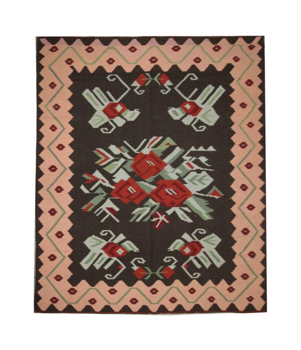 Handmade Floral Kilim Rug Moldovan Kilim For Sale UK
