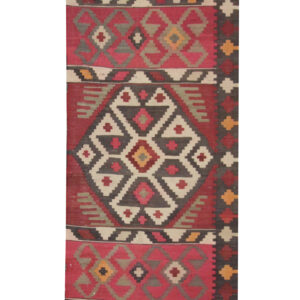 Red Persian Rug Handmade Kilim Rugs for Sale UK, Vintage Persian Carpet