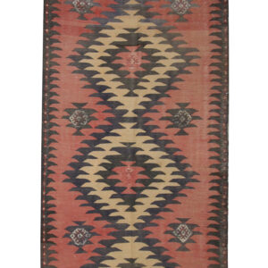 Vintage Wool Kilim Rug, Handmade Persian Rug, Vintage Rug For Sale UK
