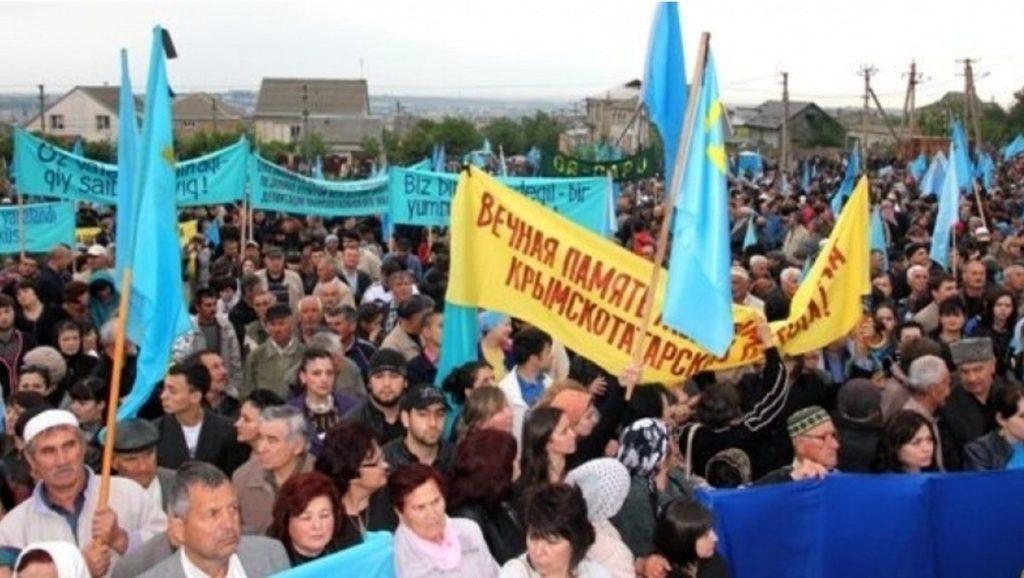 18 mayıs Qırımtatar sürgün mitingi - lenin meydanı - kırım