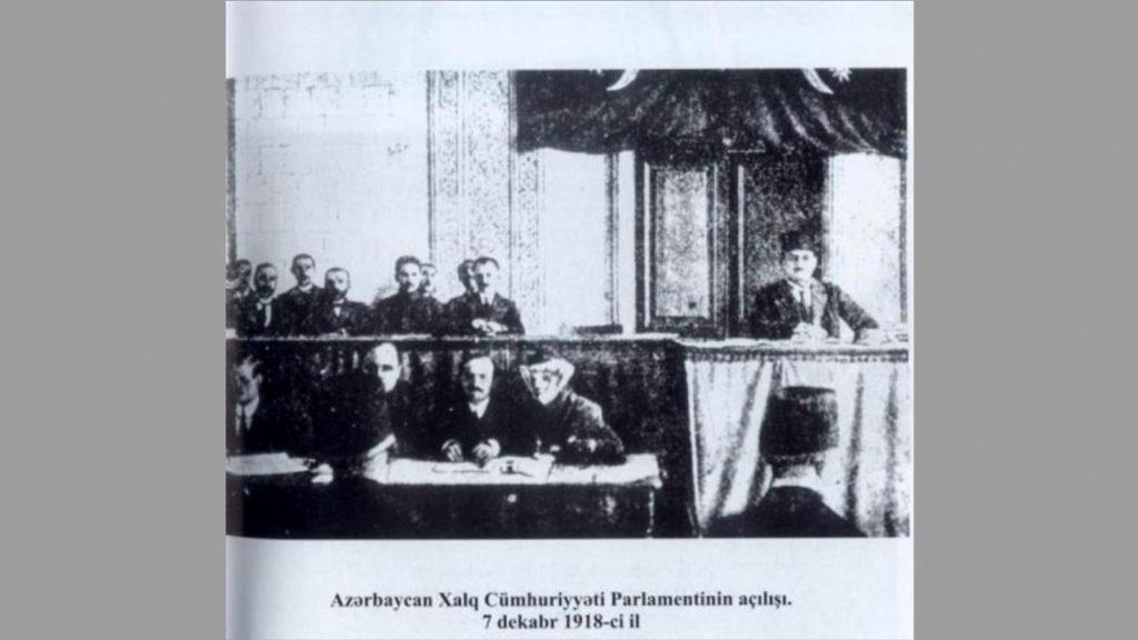 azerbaycan halk meclisi 1918