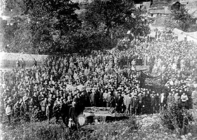 İsmail Bey Gaspıralı'nın cenaze töreni