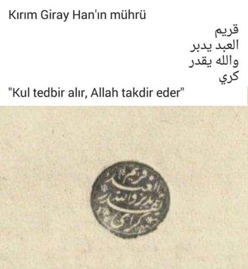 Kırım Giray Han Mührü