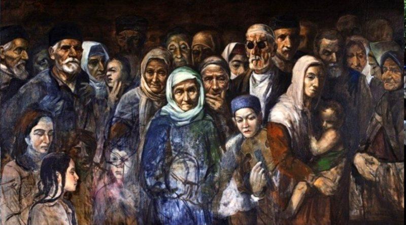 """Ressam Rustem Emin - """" Gecmis ve gelegek araliginda..."""" 107/200 yagli boya 1994"""