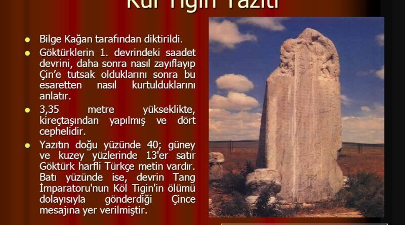 Orhun kitabeleri Moğolistan'ın İki Türk prensi Kül Tigin ve kardeşi Bilge Kağan'ın onuruna dikildiler .