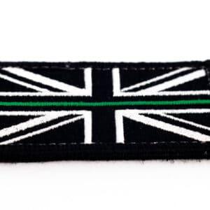 Union Flag Velcro Patch (Green Line)