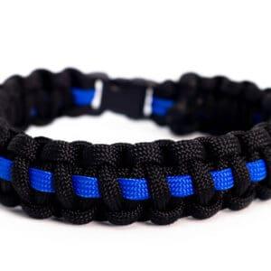 Paracord Wristband – Blue Line