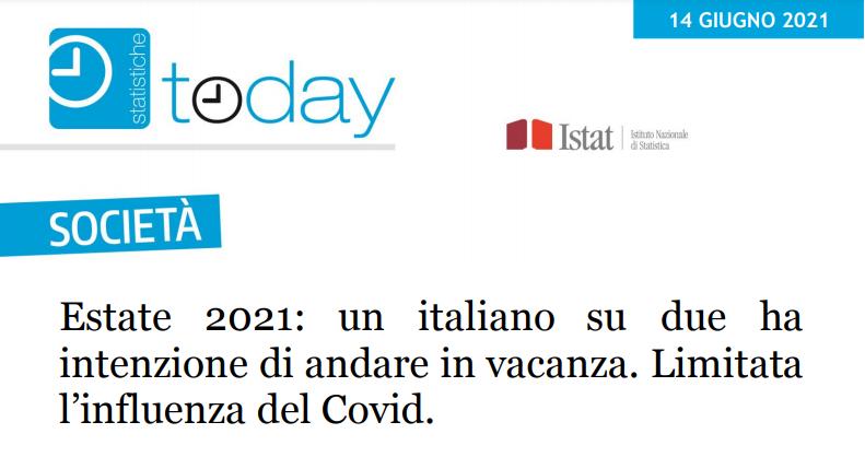 INDAGINE ISTAT SU PROSPETTIVE DI VACANZA DEGLI ITALIANI: LA CASA, DI PROPRIETÀ O IN AFFITTO, RESTA LA SOLUZIONE PREFERITA