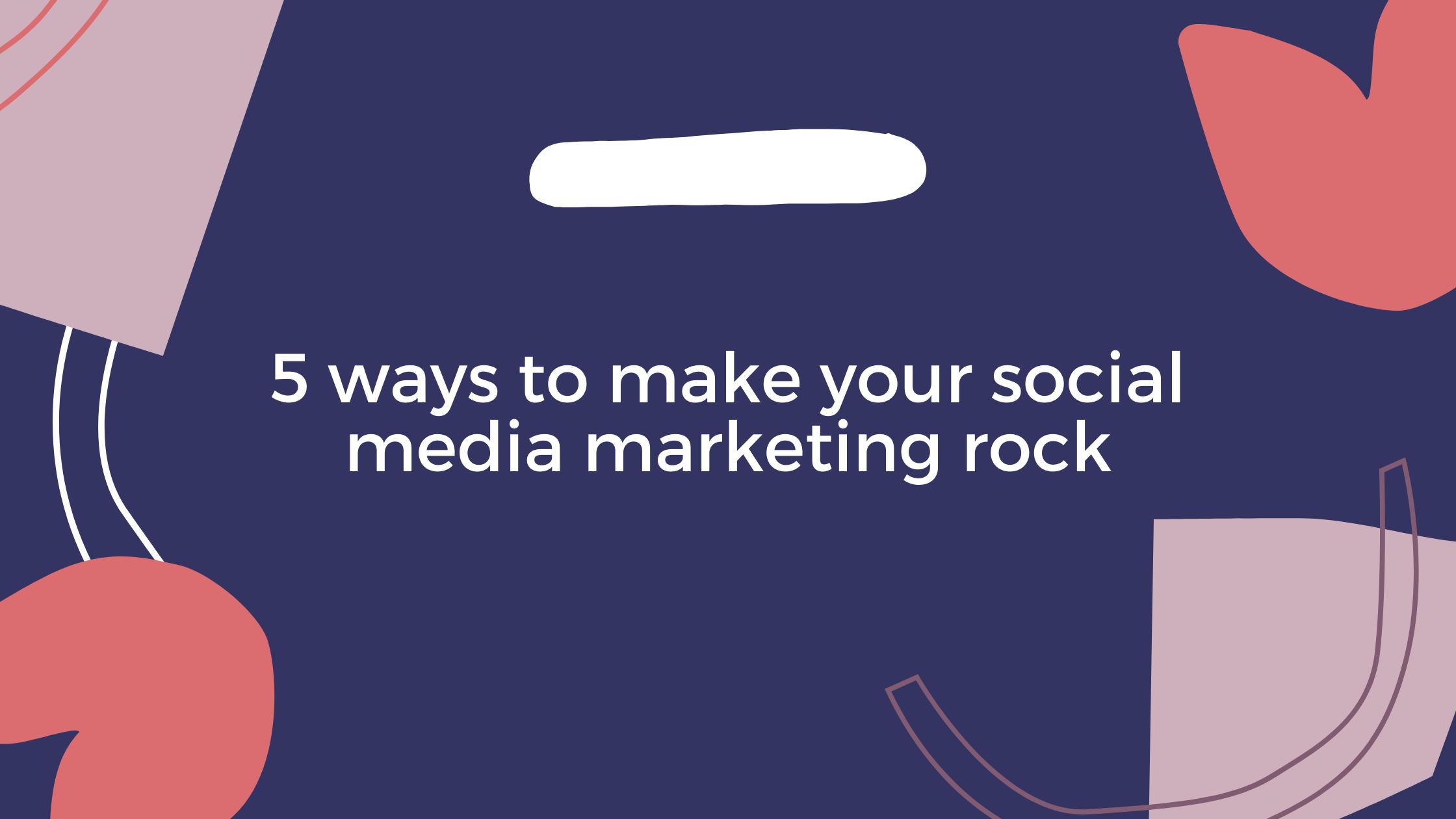 Social Media Marketing Rock