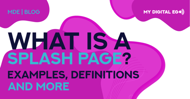 What is a Splash Page: Examples, Definitions, and More