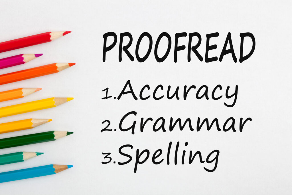 Spanish proofreading and editing services