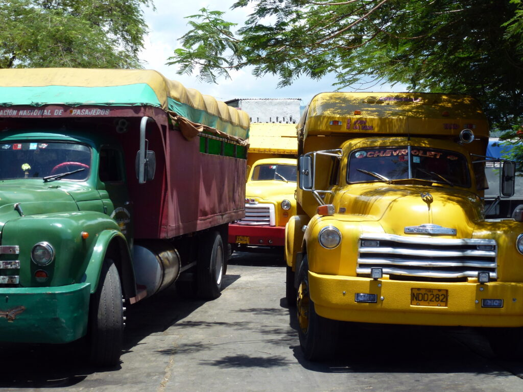 colourful Cuban camiones   Spanish translation services for the tourism industry
