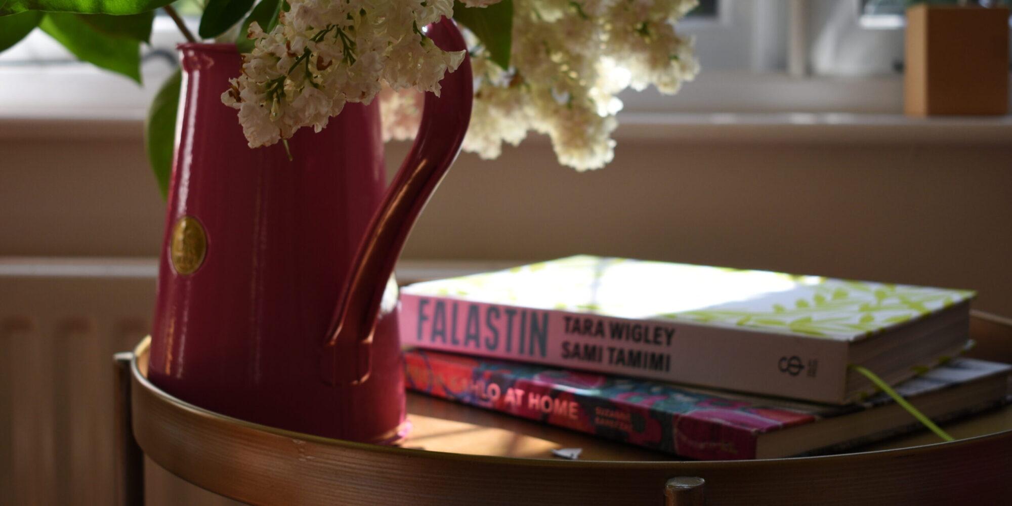 Cookbooks on side table | Hybrid cookbook