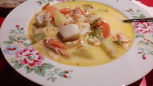 Chunky fish soup from My French Family Table