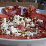 Watermelon and fetta carpaccio | A Table for Friends