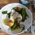 Cornish hake on bed of potatoes with samphire | How to live longer