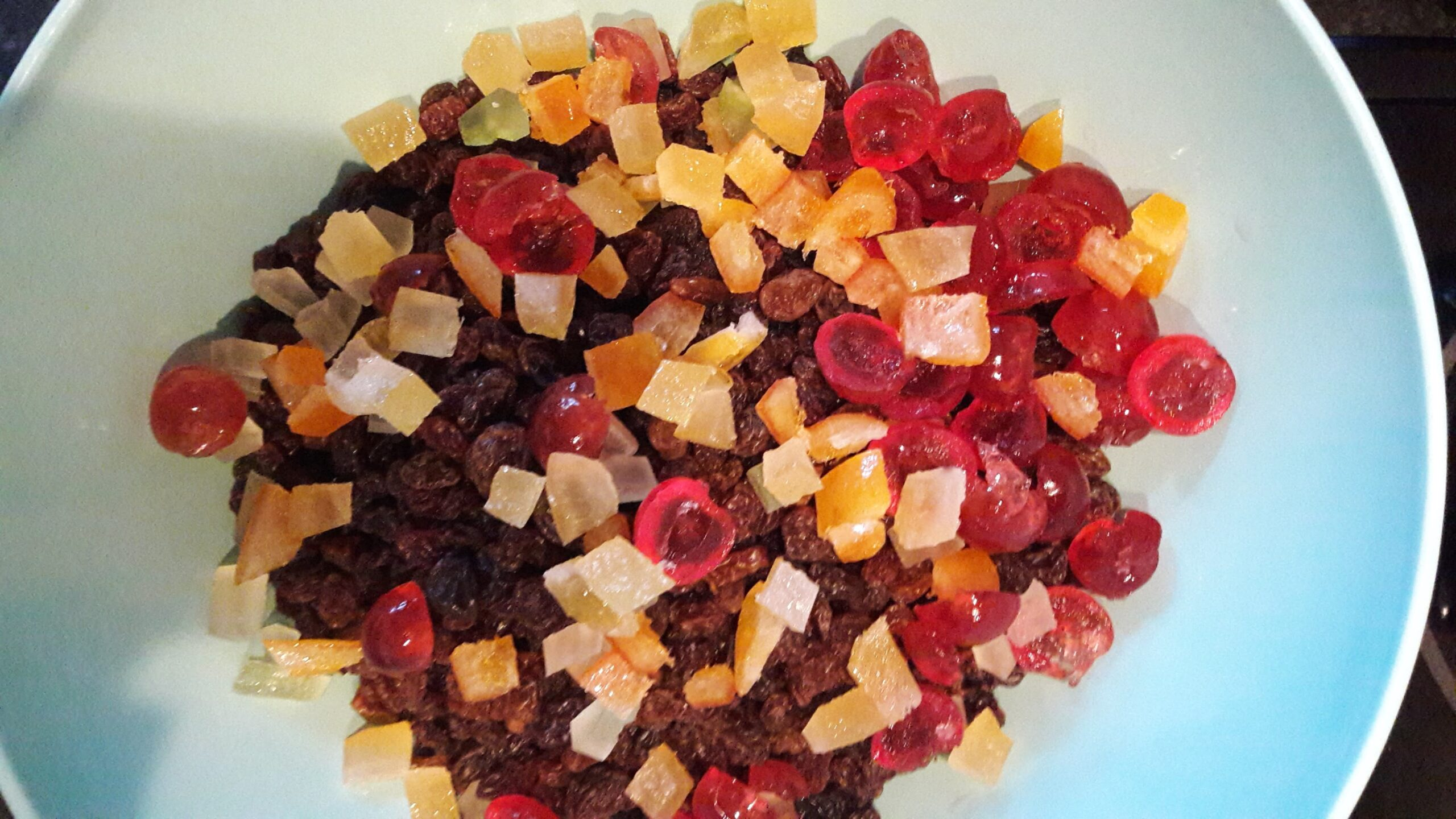 Dried fruit mix for Christmas cake