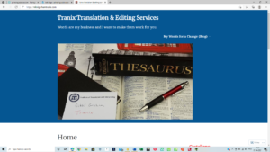 Web localisation and transcreation | picture of Nikki Graham's home page