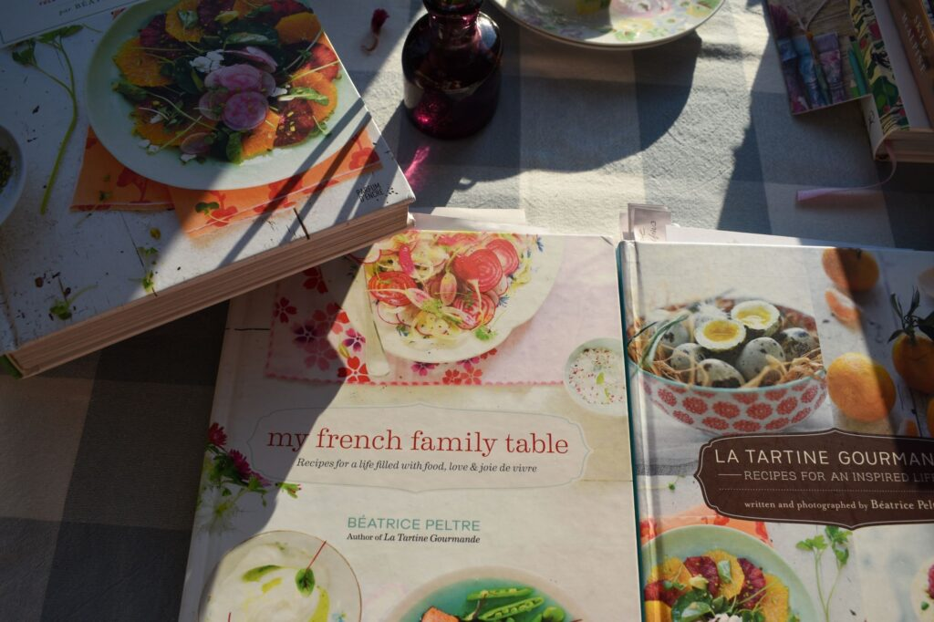 professional cookbook translation services | French cookbooks on the table