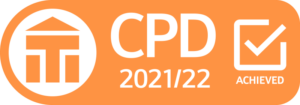 CPD achieved logo for 2021-22