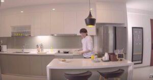 Sơn kính bếp nhà MTP