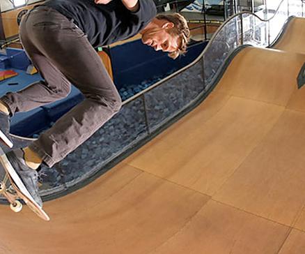 indoor skating ramps