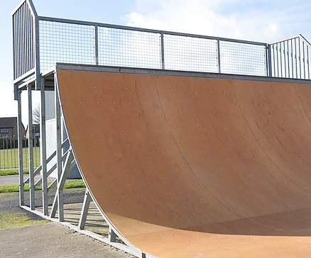 outdoor bmx and skating ramps