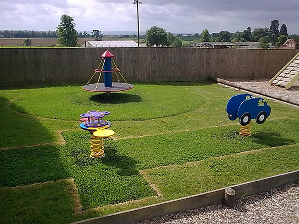 perfect grassed recreation area for toddlers