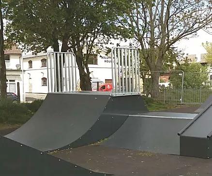 skating steel ramps