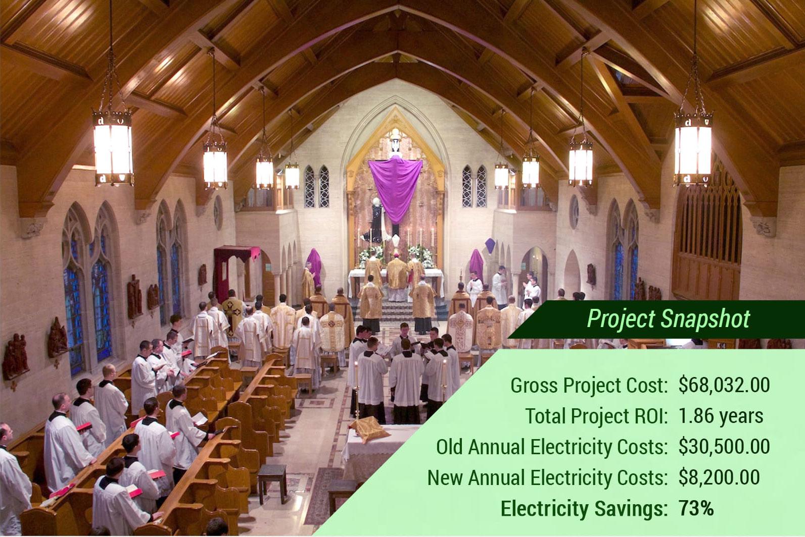 St. Thomas Aquinas Seminary - 73% Energy Savings with LED Lighting - Verde Solutions